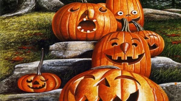 Тыквы - обои хеллоуин
