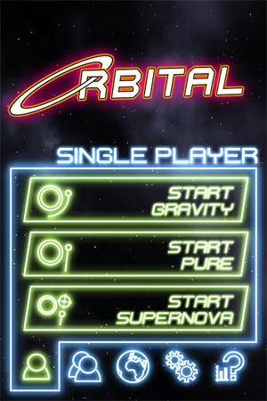 Orbital -  главное меню игры