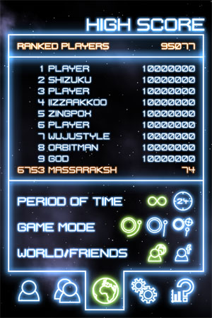 Orbital - таблица рекордов