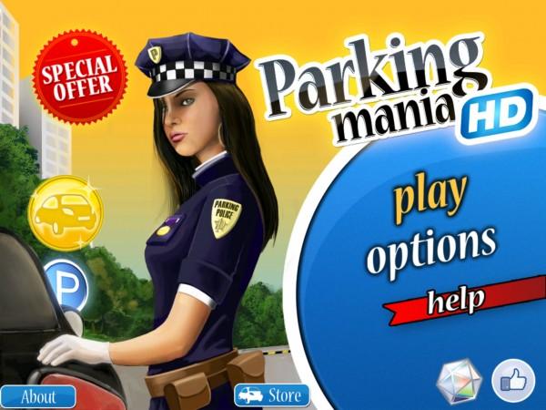 меню игры Parking Mania для iPad