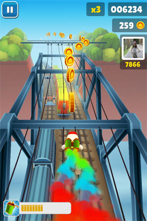 Игра Subway Fly для iPhone