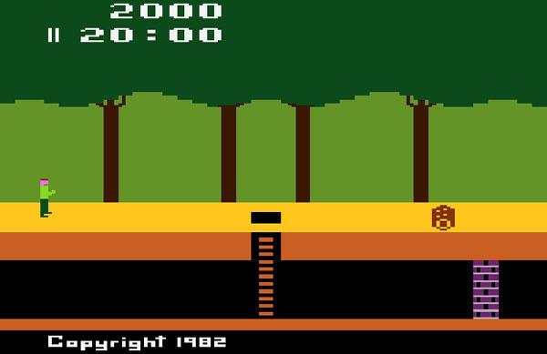 скриншот оригинальной игры Pitfall для Atari