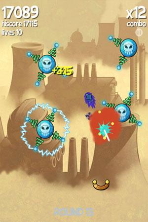 Враги в игре pollushot для Iphone