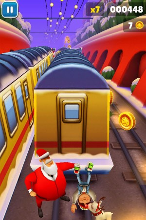 Subway Surfers зимняя версия iPhone/iPad