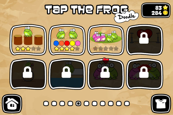 уровни игры Tap The Frog для IPad