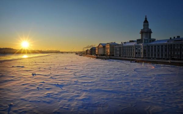 Обои зимнего Санкт-Петербурга
