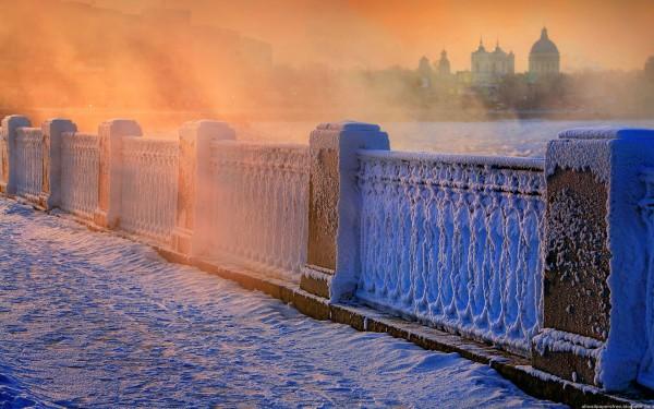 Скачать обои Петербург зимой