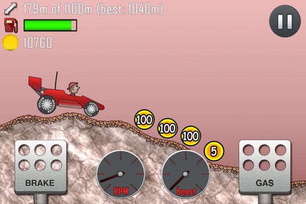 Hill Climb Racing - уровень марс