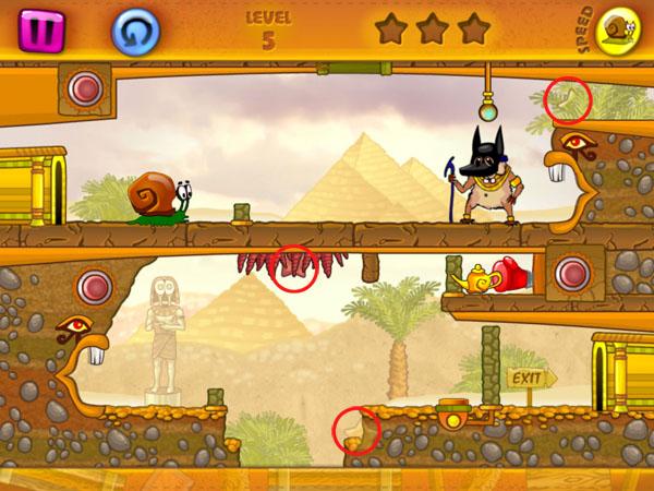 уровни игры Snail Bob для iOS