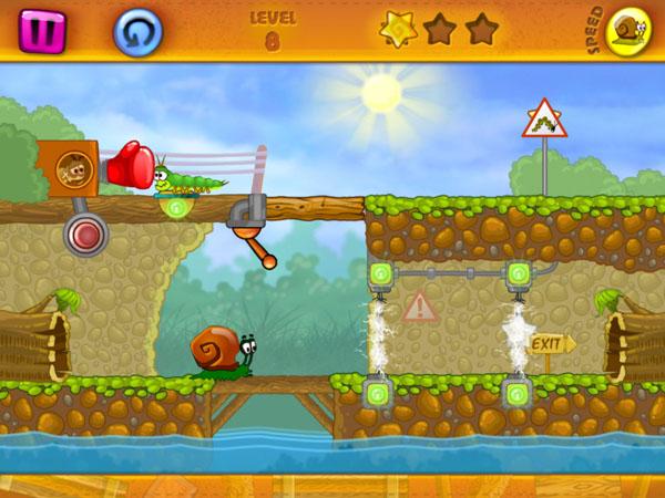 уровни игры Snail Bob для iPad