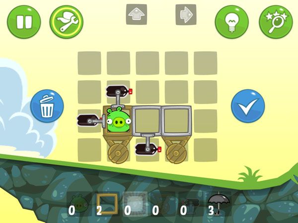 уровни игры Bad Piggies для iPhone