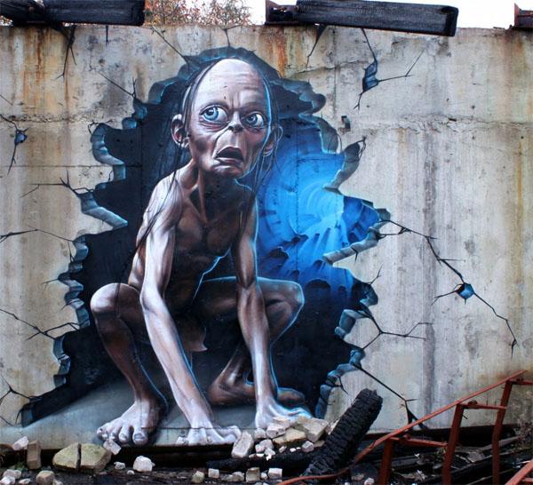 интересное граффити