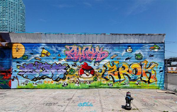 очаровательное граффити