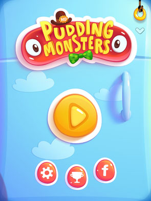 меню игры Pudding Monsters для iOS