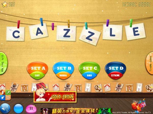 меню игры Cazzle для iPhone