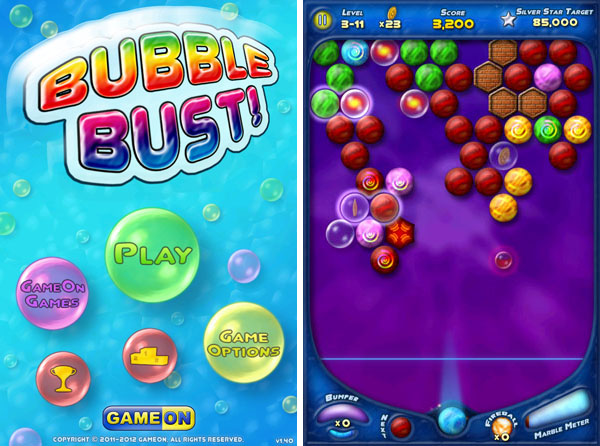 уровни игры Bubble Bust для iPhone
